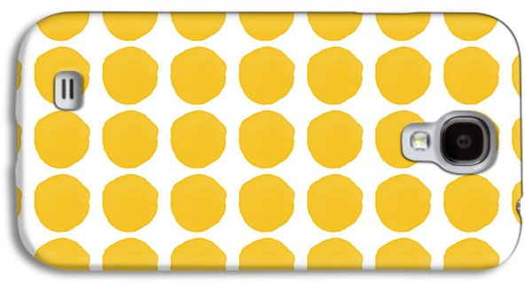 Yellow Circles- Art By Linda Woods Galaxy S4 Case