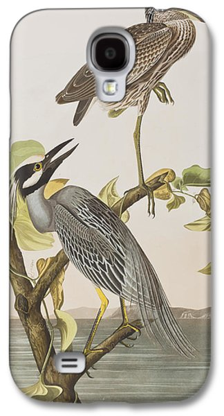 Yellow Crowned Heron Galaxy S4 Case by John James Audubon