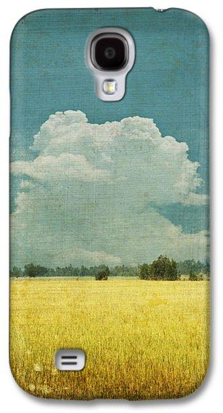 Yellow Field On Old Grunge Paper Galaxy S4 Case by Setsiri Silapasuwanchai