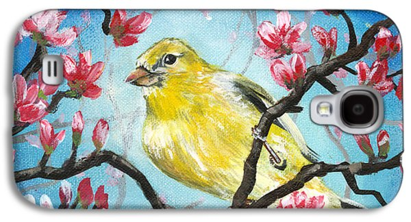 Yellow Finch Bird By Gretchen Smith Galaxy S4 Case