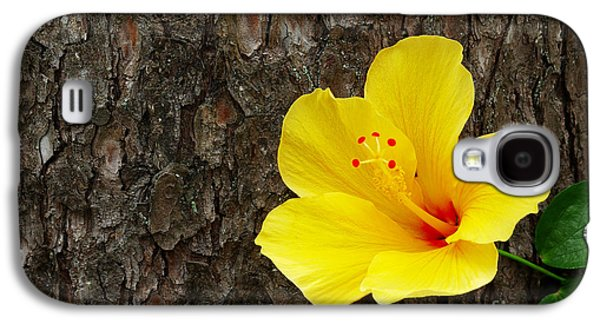 Yellow Flower Galaxy S4 Case by Carlos Caetano