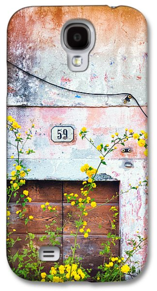 Yellow Flowers And Decayed Wall Galaxy S4 Case by Silvia Ganora