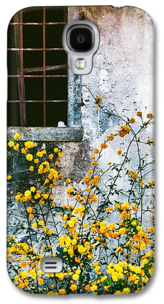 Galaxy S4 Case featuring the photograph Yellow Flowers And Window by Silvia Ganora
