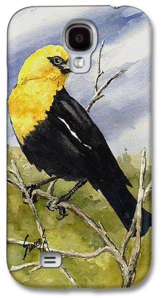 Yellow-headed Blackbird Galaxy S4 Case by Sam Sidders