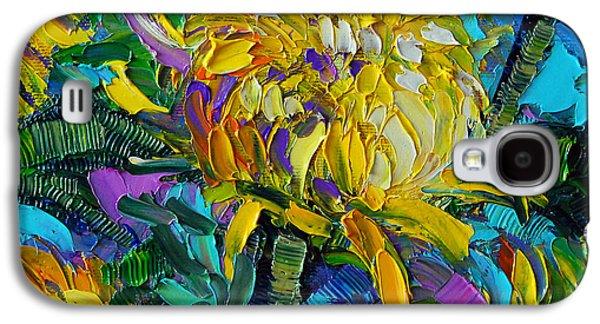 Yellow Mums Galaxy S4 Case by Mona Edulesco