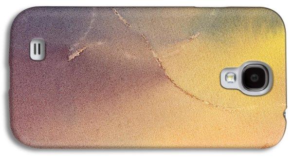Yellow Orange Blue Watercolor Square Design 3 Galaxy S4 Case by Sharon Freeman