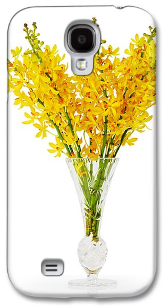 Yellow Orchid In Crystal Vase Galaxy S4 Case by Atiketta Sangasaeng