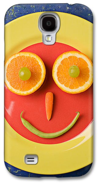 Yellow Plate With Food Face Galaxy S4 Case