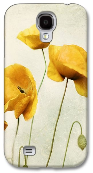 Yellow Poppies - Square Version Galaxy S4 Case by Amy Tyler