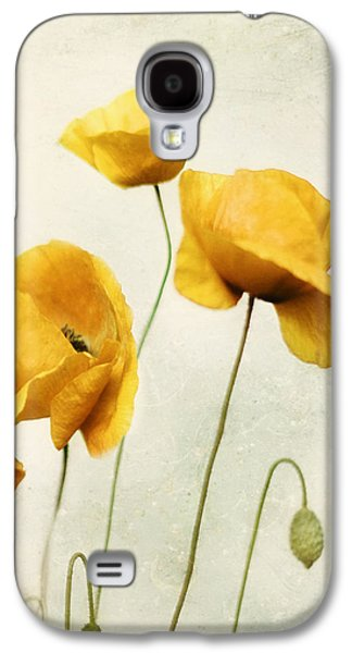 Yellow Poppies - Square Version Galaxy S4 Case