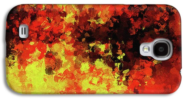 Yellow, Red And Black Galaxy S4 Case by Ayse Deniz