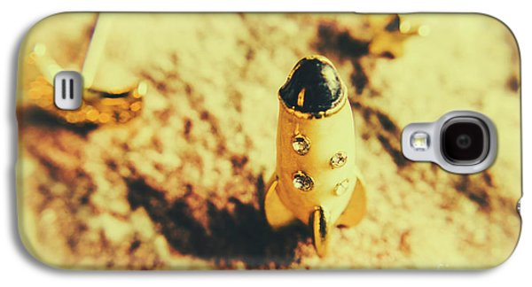 Yellow Rocket On Planetoid Exploration Galaxy S4 Case