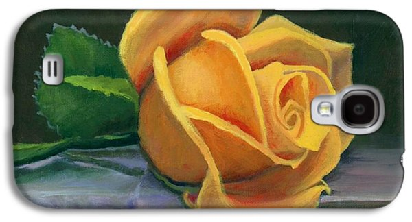 Yellow Rose Galaxy S4 Case by Janet King