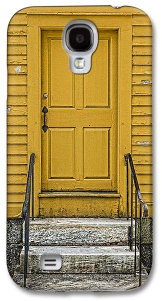 Yellow Shaker Door Galaxy S4 Case by Stephen Stookey