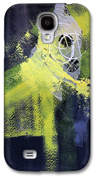 Galaxy S4 Case featuring the painting Yellow Splash by Nancy Merkle