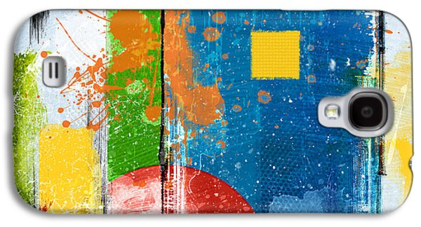 Yellow Square Galaxy S4 Case by Bedros Awak
