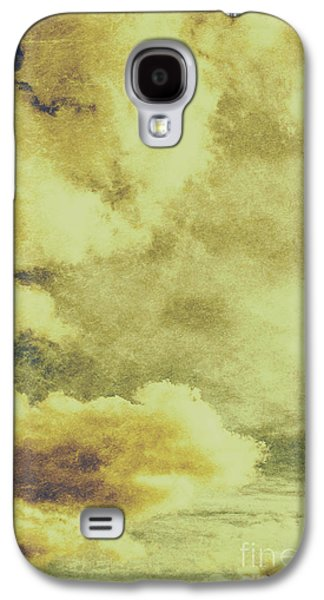 Yellow Toned Textured Grungy Cloudscape Galaxy S4 Case