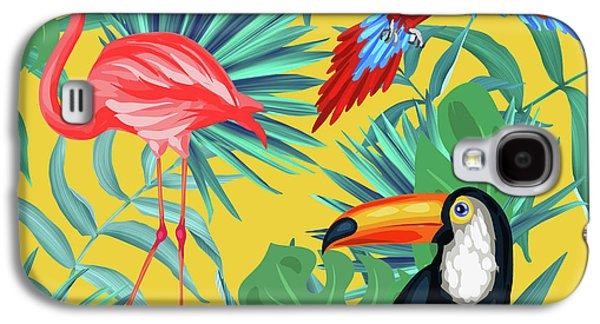 Yellow Tropic  Galaxy S4 Case by Mark Ashkenazi