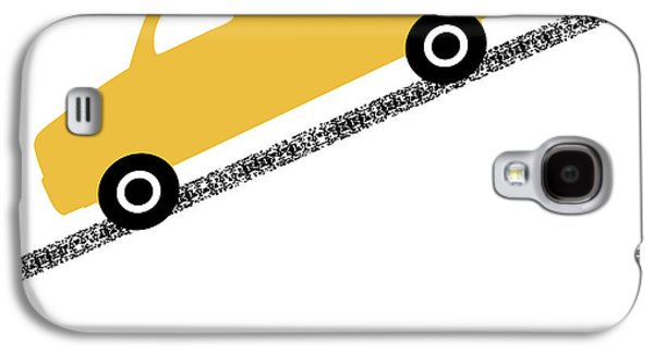 Truck Galaxy S4 Case - Yellow Truck On Road- Art By Linda Woods by Linda Woods