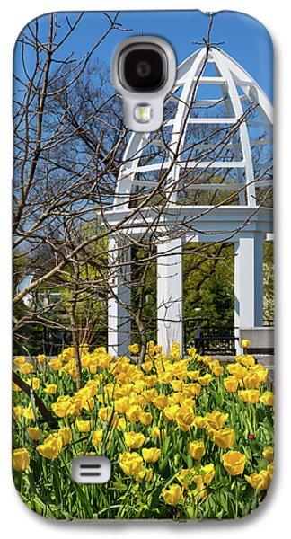 Tulip Galaxy S4 Case - Yellow Tulips And Gazebo by Tom Mc Nemar
