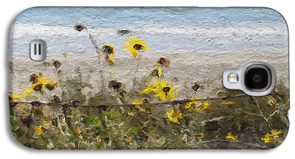 Yellow Wildflowers- Art By Linda Woods Galaxy S4 Case