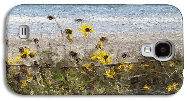 Daisy Galaxy S4 Case - Yellow Wildflowers- Art By Linda Woods by Linda Woods