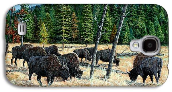 Yellowstone Grazers Galaxy S4 Case by Timithy L Gordon