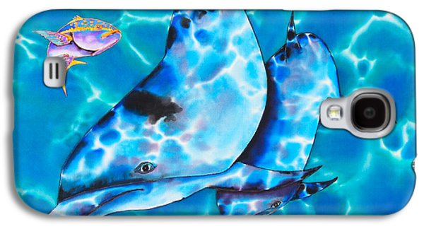 Dolphin Tapestries - Textiles Galaxy S4 Cases - Yellowtail Snapper and  Dolphins Galaxy S4 Case by Daniel Jean-Baptiste