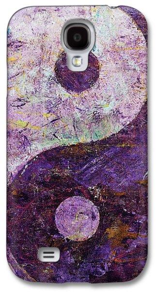 Purple Yin Yang Galaxy S4 Case by Michael Creese