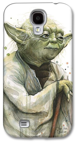 Yoda Watercolor Galaxy S4 Case by Olga Shvartsur