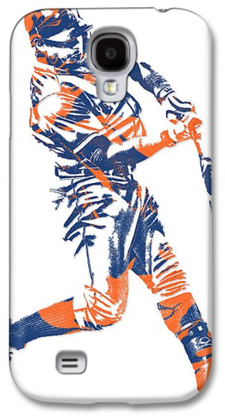 New York Mets Galaxy S4 Case - Yoenis Cespedes New York Mets Pixel Art 1 by Joe Hamilton