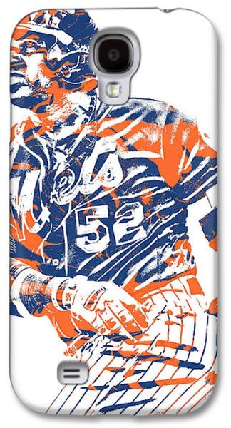New York Mets Galaxy S4 Case - Yoenis Cespedes New York Mets Pixel Art 10 by Joe Hamilton