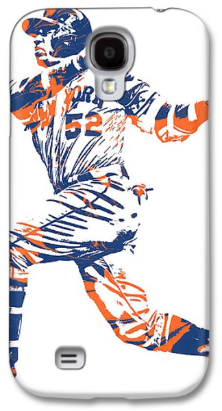 New York Mets Galaxy S4 Case - Yoenis Cespedes New York Mets Pixel Art 11 by Joe Hamilton