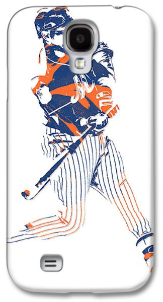 New York Mets Galaxy S4 Case - Yoenis Cespedes New York Mets Pixel Art 2 by Joe Hamilton