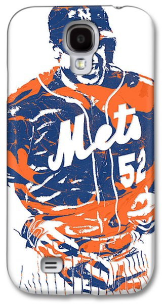 New York Mets Galaxy S4 Case - Yoenis Cespedes New York Mets Pixel Art 3 by Joe Hamilton