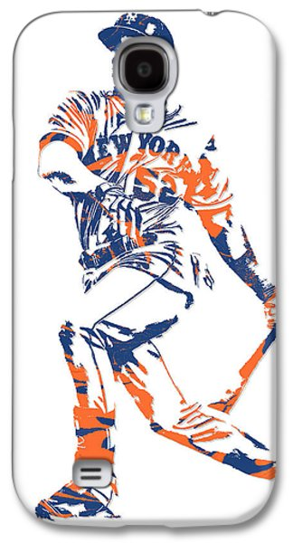 New York Mets Galaxy S4 Case - Yoenis Cespedes New York Mets Pixel Art 4 by Joe Hamilton