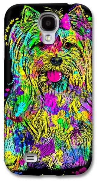 Yorkie Beauty Galaxy S4 Case by Zaira Dzhaubaeva