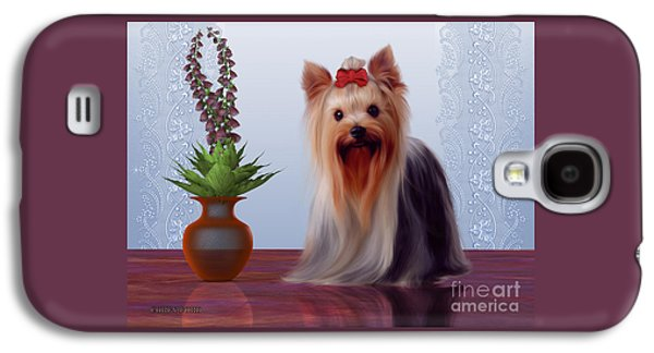Yorkshire Terrier Galaxy S4 Case by Corey Ford