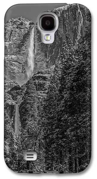 Yosemite Falls In Black And White IIi Galaxy S4 Case
