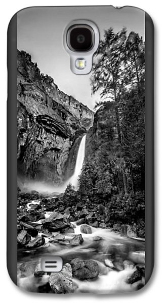Yosemite Waterfall Bw Galaxy S4 Case by Az Jackson
