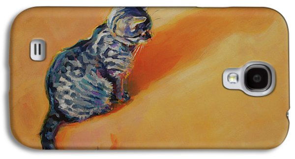 Orange Tabby Paintings Galaxy S4 Cases - You Are My Sunshine Galaxy S4 Case by Kimberly Santini