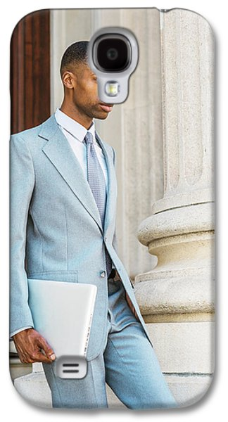 Young African American Businessman Working In New York Galaxy S4 Case