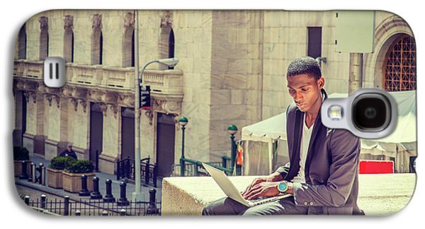 Young African American Man Working On Wall Street In New York Galaxy S4 Case