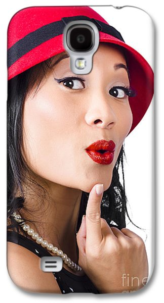 Young Asian Girl With Surprised Expression  Galaxy S4 Case