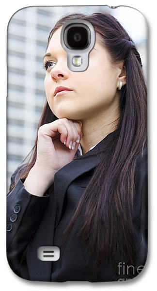 Young Business Woman With Grand Business Ideas Galaxy S4 Case by Jorgo Photography - Wall Art Gallery