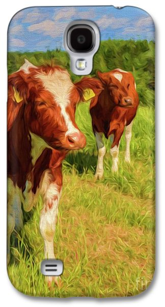 Young Cows Galaxy S4 Case by Veikko Suikkanen