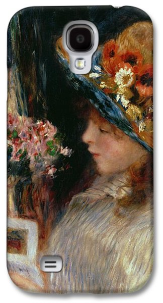 Young Girl Reading Galaxy S4 Case by Pierre Auguste Renoir