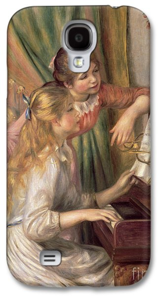 Young Girls At The Piano Galaxy S4 Case by Pierre Auguste Renoir
