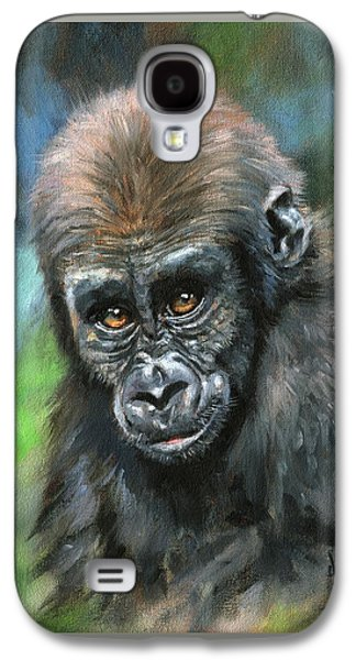 Young Gorilla Galaxy S4 Case by David Stribbling