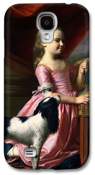 Young Lady With A Bird And A Dog Galaxy S4 Case by John Singleton Copley